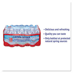Crystal Geyser® Alpine Spring Water, 16.9 oz Bottle, 24/Case