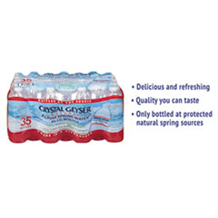 Crystal Geyser® Alpine Spring Water, 16.9 oz Bottle, 35/Case