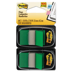 Standard Page Flags In Dispenser, Green, 100