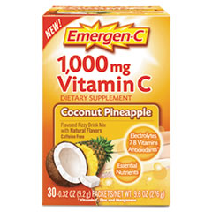 Emergen-C® Immune Defense Drink Mix, Coconut Pineapple, 0.32 oz Packet, 30/Box