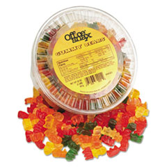 Office Snax® Gummy Bears, Assorted Flavors, 2 lb Tub