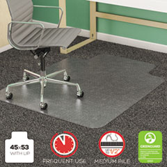 deflecto® SuperMat Frequent Use Chair Mat for Medium Pile Carpeting