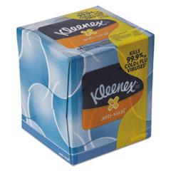 KLEENEX® Anti-Viral Facial Tissue, 3-Ply, 68 Sheets/Box, 27 Boxes/Carton KCC37303CT
