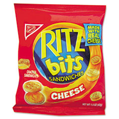 Nabisco® Ritz Bits, Cheese, 1.5 oz Packs, 60/Carton