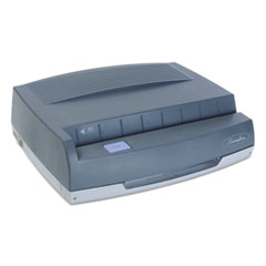 """Swingline® 50-Sheet 350MD Electric Three-Hole Punch, 9/32"""" Holes, Gray"""