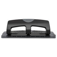 "Swingline® 20-Sheet SmartTouch Three-Hole Punch, 9/32"" Holes, Black/Gray"