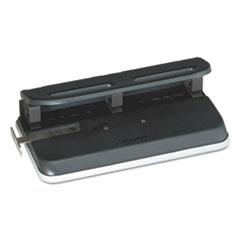 """Swingline® 24-Sheet Easy Touch Two-to-Seven-Hole Precision-Pin Punch, 9/32"""" Holes, Black"""