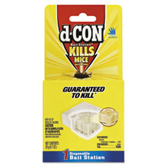 d-CON® Disposable Bait Station, 3 x 3 x 1 1/4, 0.7 oz, 12/Carton