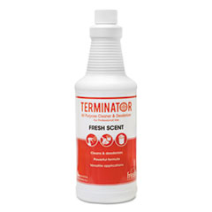 Fresh Products Terminator All-Purpose Cleaner/Deodorizer with (2) Trigger Sprayers, 32 oz Bottles, 12/Carton
