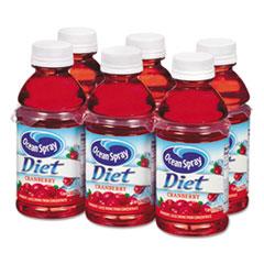 Ocean Spray® Cranberry Juice Drink, Diet Cranberry, 10 oz Bottle, 6/Pack OCS00191