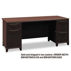 Bush® Enterprise Collection Double Pedestal Desk