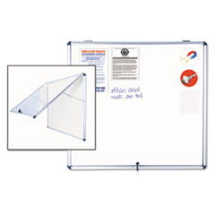 MasterVision® Slim-Line Enclosed Dry Erase Board Thumbnail