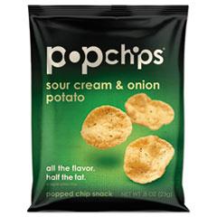 popchips® Potato Chips, Sour Cream & Onion Flavor, .8 oz Bag, 24/Carton PPH77700