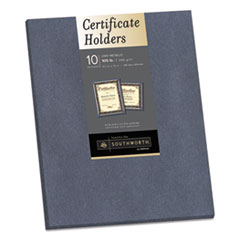 Southworth® Certificate Holder, Gray, 105lb Linen Stock, 12 x 9 1/2, 10/Pack SOU98869