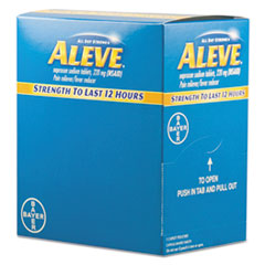 Image of Pain Reliever Tablets, 50 Packs/Box Health PFYBXAL50 Aleve