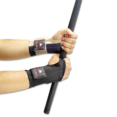 Dual-Flex Wrist Supports, X-Large, Nylon, Black