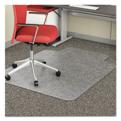 deflecto® EconoMat® Occasional Use Chair Mat for Commercial Flat Pile Carpeting