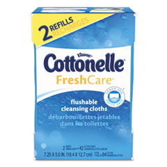 Cottonelle® Fresh Care Flushable Cleansing Cloths, White, 3.73 x 5.5, 84/Pack