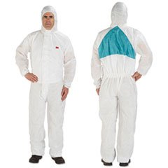 3M™ Disposable Protective Coveralls, White, Large, 25/Carton