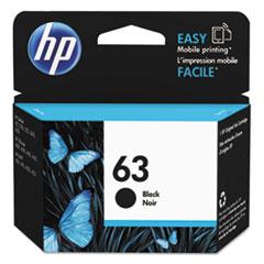 HP HP 63, (F6U62AN) Black Original Ink Cartridge HEWF6U62AN