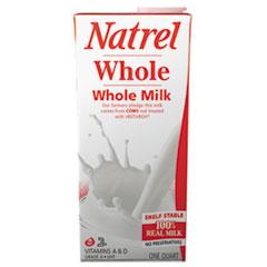 Natrel® Milk, Whole Milk, 32 oz Tetra Pack, 12/Carton AGO30338