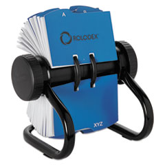 Rolodex™ Open Rotary Business Card File w/24 Guides, Black