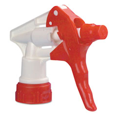 "Boardwalk® Trigger Sprayer 250 for 16-24 oz Bottles, Red/White, 8""Tube, 24/Carton"