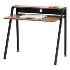 Safco® Writing Desk, 37 3/4 x 22 3/4 x 34 1/4, Natural/Black SAF1951BL