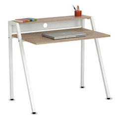 Safco® Writing Desk, 37 3/4 x 22 3/4 x 34 1/4, Beech/White SAF1951WH