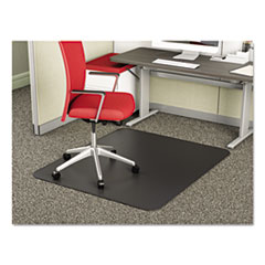 deflecto® SuperMat Frequent Use Chair Mat for Medium Pile Carpet, 45 x 53, Rectangular, Black