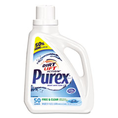 Purex® Free and Clear Liquid Laundry Detergent, Unscented, 75 oz Bottle