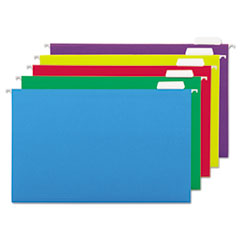 UNV14221 - Hanging File Folders, 1/5 Tab, 11 Point, Legal, Assorted Colors, 25/Box