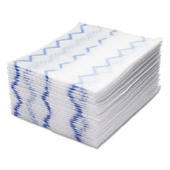 Rubbermaid® Commercial HYGEN™ HYGEN Disposable Microfiber Cleaning Cloths, White/Blue, 10 x 8, 640/Pack