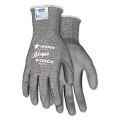 MCR™ Safety Ninja Force Polyurethane Coated Gloves, Small, Gray, Pair