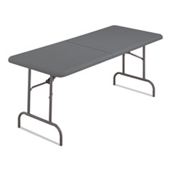 Iceberg IndestrucTables Too Bifold Resin Folding Table, 60w x 30d x 29h, Charcoal ICE65457