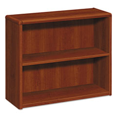 HON® 10700 Series Wood Bookcase, Two Shelf, 36w x 13 1/8d x 29 5/8h, Cognac HON10752CO