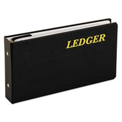 "Adams® 6-Ring Ledger Binder, Round-Ring, 1"" Capacity, 10 1/2 x 5 5/8, Black"