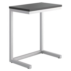 Basyx by HON Occasional Cantilever Table, 24w x 15d x 20 3/4h, Black/Silver BSXHML8858P