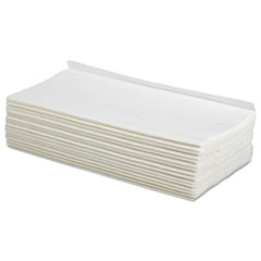 Boardwalk® TAD Wipers, 1-Ply, White, 9 x 12 3/4, 2250/Carton BWKE010IDW