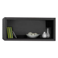 Mayline® e5 Overhead Storage Cabinet, 30w x 15d x 15h, Raven