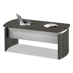 Mayline® Medina Series Laminate Curved Desk Top, 72w x 36d x 29 1/2h, Gray Steel MLNMNDT72LGS