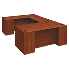 HON® 10700 Single Pedestal Desk, Full Right Pedestal, 72w x 36d x 29 1/2h, Cognac HON10787RCO
