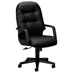 Image of 2090 Pillow-Soft Series Executive Leather High-Back Swivel/Tilt Chair, Black Chairs HON2091SR11T HON