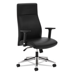 Basyx by HON VL108 Executive High-Back Chair, Black Leather BSXVL108SB11