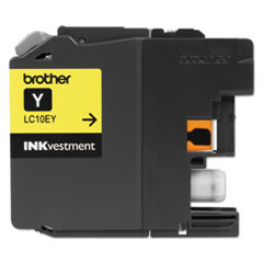 Brother LC10EY INKvestment Super High-Yield Ink, 1200 Page-Yield, Yellow