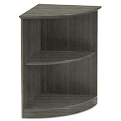 Safco® Medina Series Quarter Round Two-Shelf Bookcase, 20w x 20w x 29 1/2h, Gray Steel
