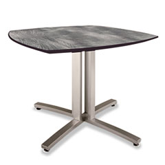 Nomad by Palmer Hamilton Story Squircle Table, 36 x 36 x 29, Pewter