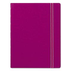 Filofax® Notebook, College Rule, Pink Cover, 8 1/4 x 5 13/16, 112 Sheets/Pad REDB115011U