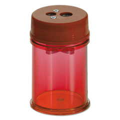 Officemate Pencil/Crayon Sharpener, Twin, Red, 1 3/8w x 1 3/8d x 2 1/8h, 8/Pk