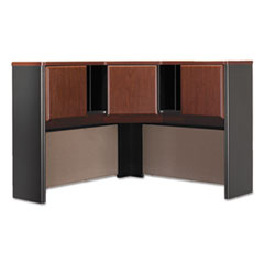 Bush® Series A Collection 48W Corner Hutch, Box 2 of 2, Hansen Cherry/Galaxy